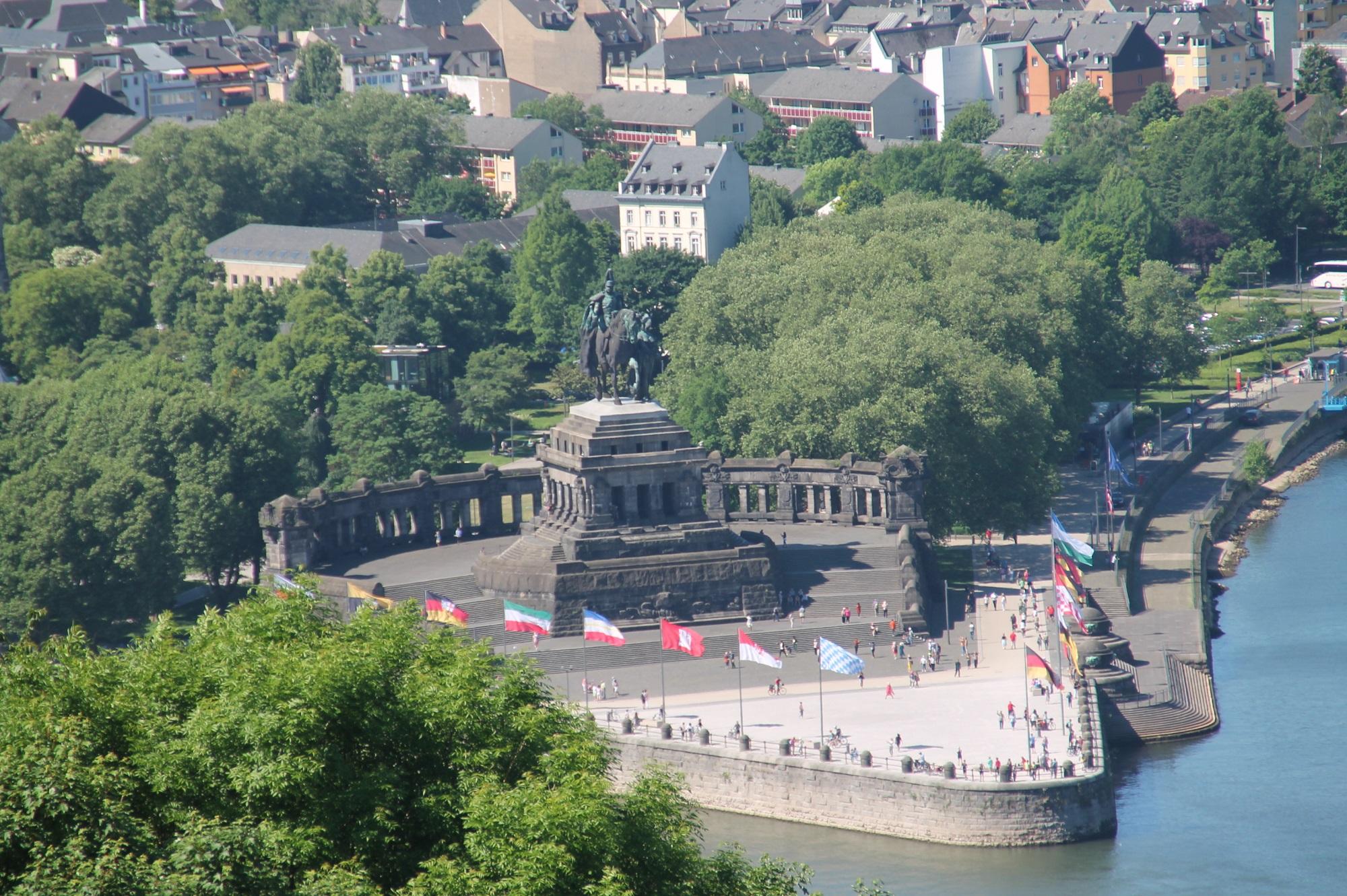 das Deutsche Eck Koblenz