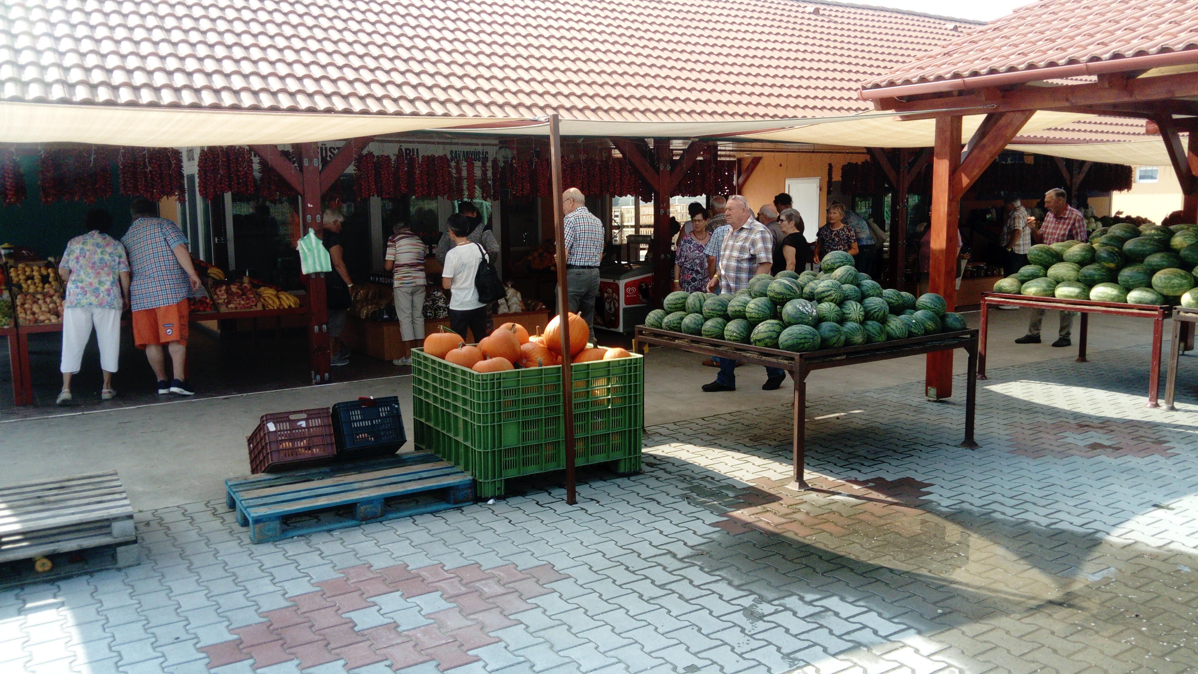 Obst Gemüse und Wurst