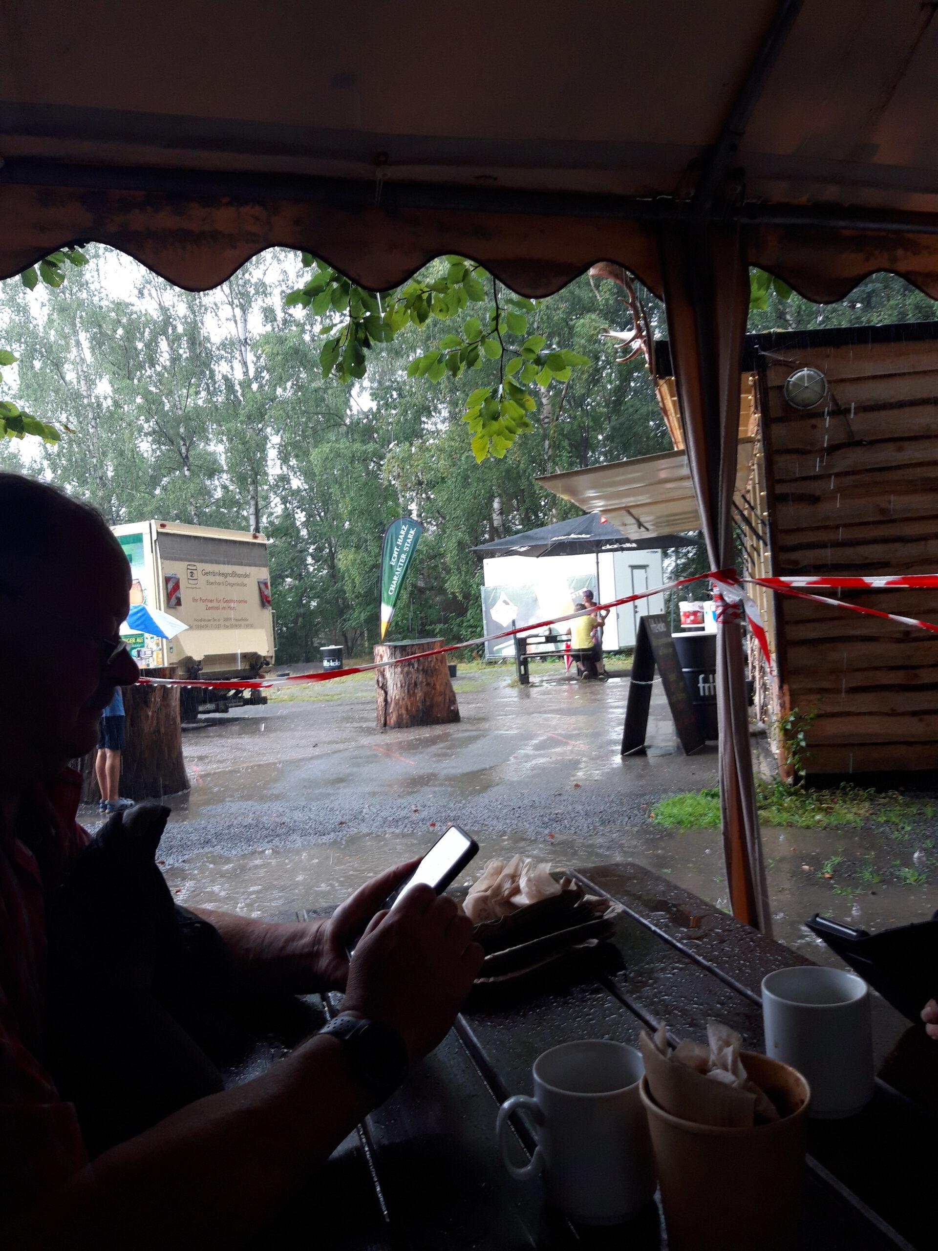 Regen an der Rappbodesperre