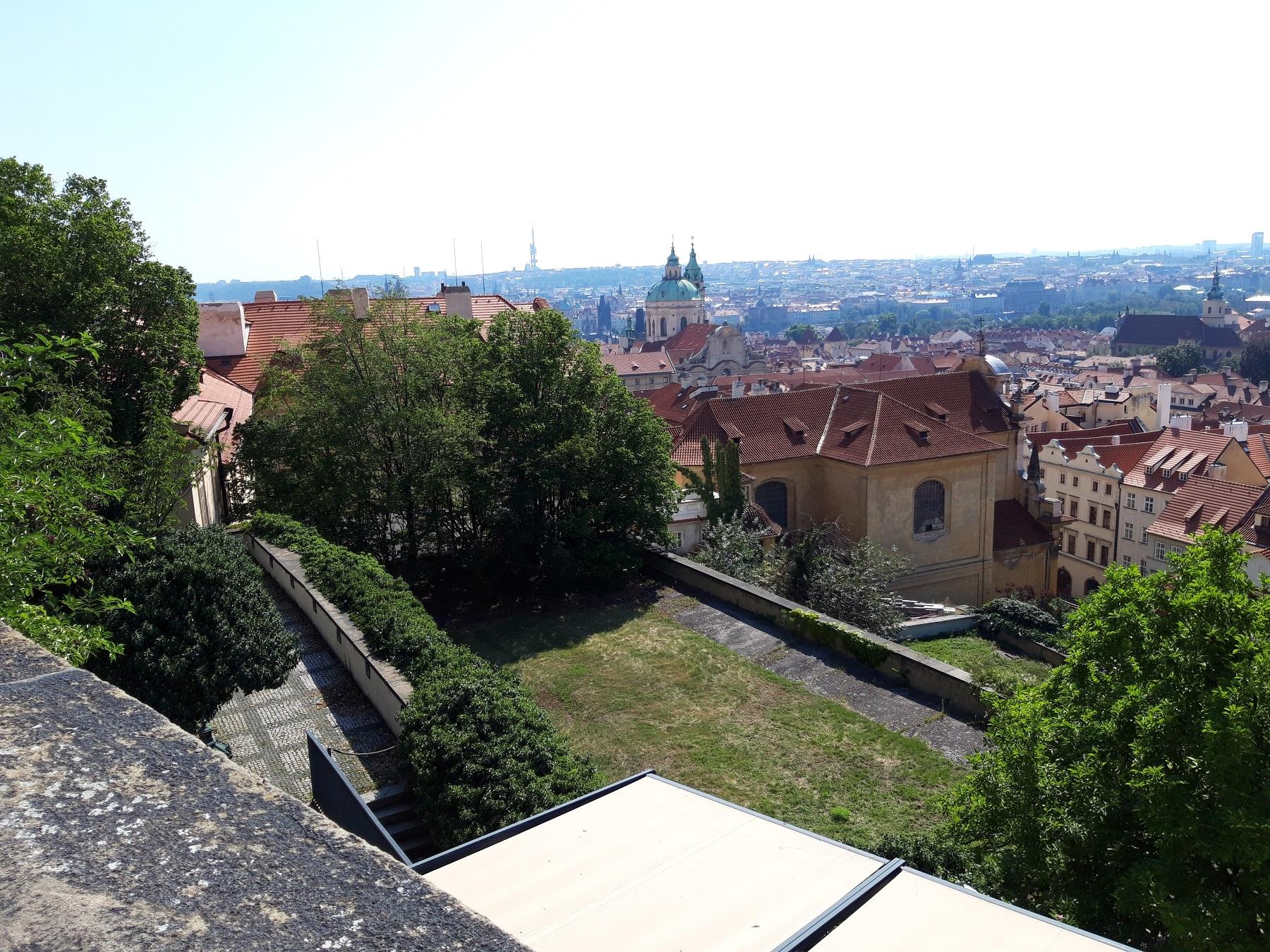 Blick von der Karlsburg auf Prag